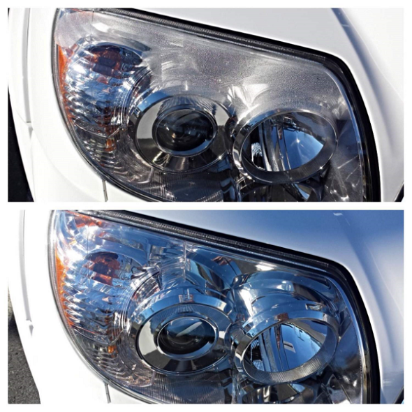 Condensation in headlight